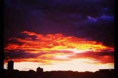 Coucher du soleil sur la ville