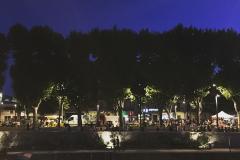 Narbonne.-Cours-Mirabeau.-Soir-dété