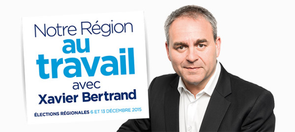 Campagne des régionales 2015, Xavier Bertrand.